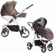 Friedrich Hugo - Easy Comfort - 2 in 1 Kombi Kinderwagen - Farbe: Taupe & Leatherette