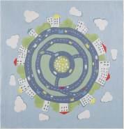 Livone Kinderteppich Happy Rugs Kidsearth 120x120 cm blau