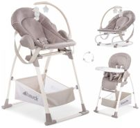Hauck 3-in-1 Hochsthuhl 'Sit N Relax' Stretch beige