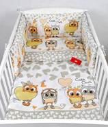 Babylux 'Eule Beige' Kinderbettwäsche 40x60/100x135 cm