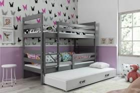 Stylefy Kera mit Extrabett Etagenbett 90x200 cm Graphit Weiß