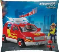 Dekokissen Playmobil City Action Feuerwehr 40 x 40 cm