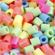 Bügelperlen, Größe 5x5 mm, Lochgröße 2,5 mm, Pastellfarben, Medium, 6000sort.
