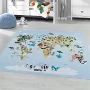 Kinderzimmer Kinderzimmerteppich 120x170 Blau