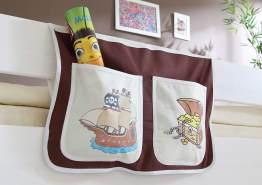 Ticaa Bett-Tasche für Hoch- und Etagenbetten - pirat braun-beige
