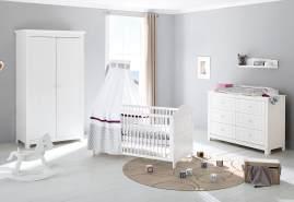 Pinolino 'Nina' 3-tlg. Babyzimmer-Set weiß, breit
