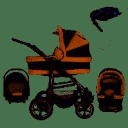 Bebebi London - Isofix Basis und Autositz - 4 in 1 Kinderwagen Set St. Paul's Air Wheels