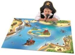 House Of Kids 11221-E3 - Playmat Quadri Pirate Connect, 100 x 150 cm