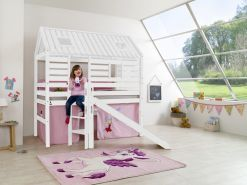Relita 'Tom´s Hütte' Hochbett inkl. Textilset 'Prinzessin'