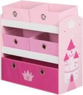 Roba 'Krone' Spielregal inkl. 5 Stoffboxen pink
