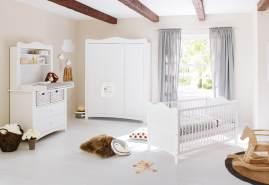 Pinolino 'Florentina' 3-tlg. Kinderzimmer breit groß, inkl. breitem Regalaufsatz