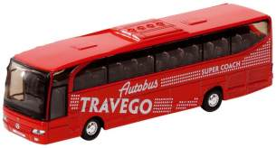 Metal Bus Travego: 18 cm ROT