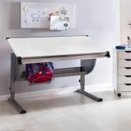 Wohnling Kinderschreibtisch 'MAXI' grau/weiß, 120x60 cm