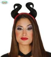 Guirca - sexy Teufel Dämon Haarreif mit Teufelshörnern für Damen