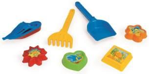 Wader Strandspielzeug-Set 30 cm 7-teilig mehrfarbig
