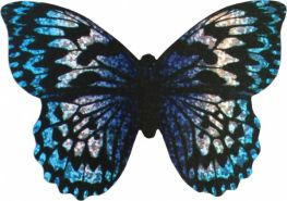 Mini-Drachen mit Seil Schmetterling 10 cm lila / schwarz