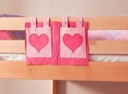 Stofftasche Seitentasche Hängetasche für Hochbett Etagenbett Pink/Rosa
