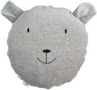 Wigiwama Spielkissen Samt Bär grau