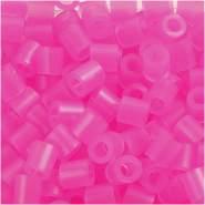 Bügelperlen, Größe 5x5 mm, Lochgröße 2,5 mm, Rosaneon 30, Medium, 6000 Stück
