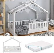 VitaliSpa 'Design' Hausbett 70x140cm, inkl. Matratze und Rausfallgitter