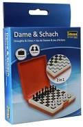 Idena 40421 - Reisespiel Dame und Schach, ca. 12 x 18 x 3 cm