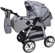 Kinderwagen Magnum + Autositz GT-Silver Flowerpower mit Isofix-Ausstattung ohne Winterfußsack mit Sonnenschirm