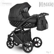 Camarelo Maggio Kombikinderwagen Mg-7 schwarz/ schwarz
