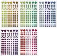 Creativ Company - Mosaik Sticker, 10 Bogen bunt sortiert