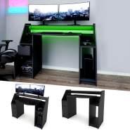 VICCO 'JOEL' Computertisch PC-Tisch schwarz