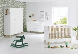 Pinolino 'Pan' 3-tlg. Babyzimmer-Set weiß, breit, 3-türig