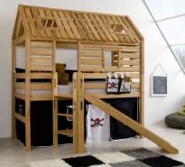 Relita 'Tom´s Hütte' Hochbett inkl. Stoffset 'Pirat' und Matratze