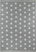 Kinderteppich Sternhimmel 80 x 150 Grau Spielteppich für das Kinderzimmer