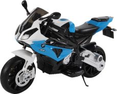 Toys Store - Kindermotorrad BMW S1000RR Lizenz Kinderelektro Motorrad Kinderfahrzeug Dreirad Blau