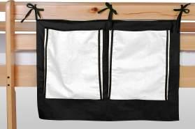 Betttasche schwarz/weiß