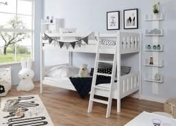Ticaa 'Erni' Etagenbett Vertikal Buche Weiß