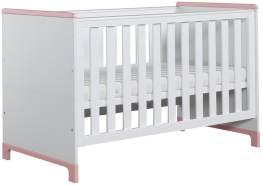 Pinio 'Mini' Kombi-Kinderbett weiß / rosa