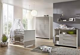 Schardt 'Eco Silber' 3-tlg. Babyzimmer-Set Schrank 3-türig