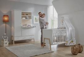Schardt 2-tlg. Babyzimmer-Set 'Holly Nature', Schrank 1-türig