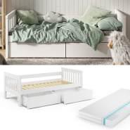 VitaliSpa 'Luna' Kinderbett, weiß, 90x200cm, inkl. Matratze und Bettschubladen