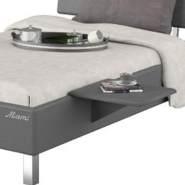 Miami Nachttisch zum einhängen in Jugendbett, Metallic Lackierung, chromfarbenes