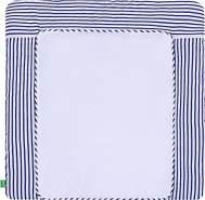 LULANDO 'Blue Stripes' Wickelauflage 75 x 85 cm blau/weiß