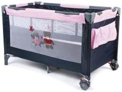 Chic 4 Baby 'Luxus Pink Checker' Reisebett schwarz / pink