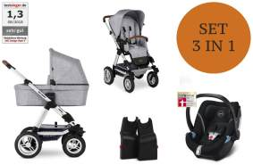 ABC Design 'Viper 4' Kombikinderwagen 3 in 1, 2021 inkl. Babyschale Graphite Grey Soho Grey