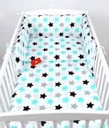 Babylux 'Sterne' Kinderbettwäsche 40 x 60/90 x 120 cm