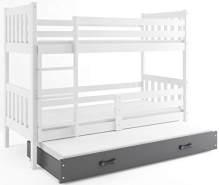 Interbeds 'CARINO 3' Etagenbett weiß/grau 90x190cm