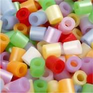 Bügelperlen, Größe 5x5 mm, Lochgröße 2,5 mm, Perlmuttfarben, Medium, 6000sort.