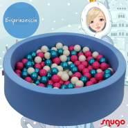 Bio Premium Bällebad EISPRINZESSIN in hellblau mit 300 Bällen aus Zuckerrohr