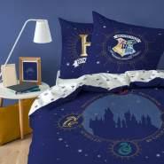Harry Potter Wende Bettwäsche Hogwarts Wappen 2tlg 135 x 200 cm 80 x 80 cm