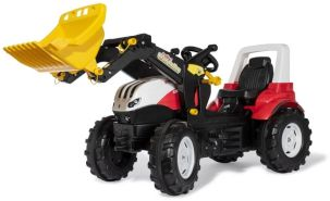 Rolly Toys 710041 rollyFarmtrac Trettraktor Steyr 6300 Terrus CVT (inkl. rollyTrac Lader, 3-8 Jahre, Verstellbarer Sitz)
