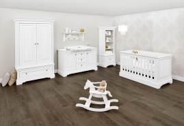 Pinolino 'Emilia' 3-tlg. Babyzimmer-Set weiß, breit